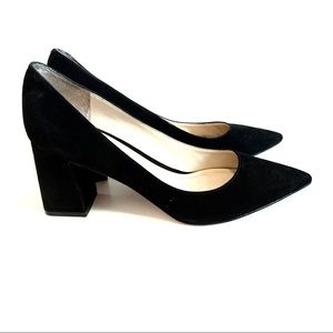 Marc Fisher Zala Pump Black Suede  Size 7